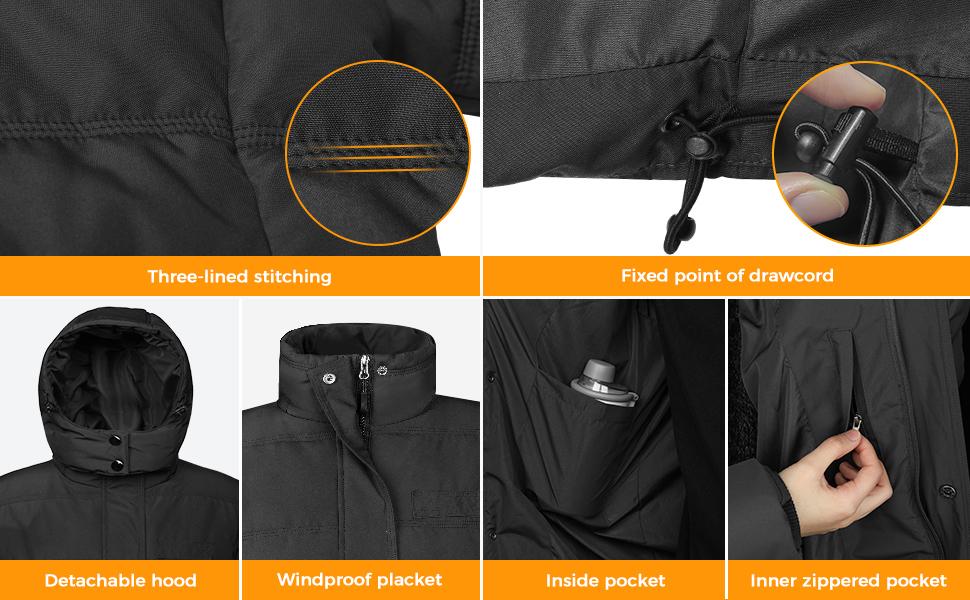 Wantdo Mens Thick Winter Coat