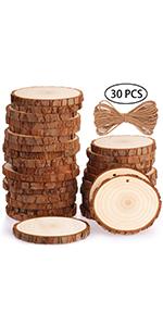 Fuyit 7-8cm 30pcs wood slices