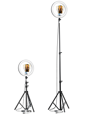 selfie ring light with tripod stand and phone holder