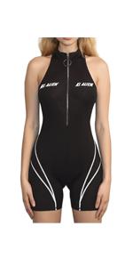 Sleeveless Zipper Front Jumpsuit