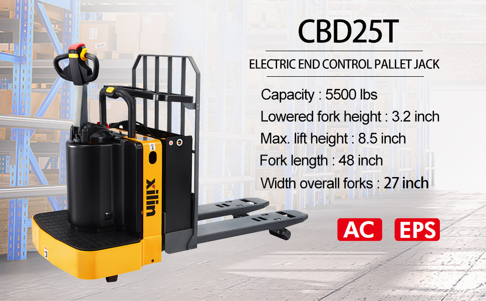electric end control pallet jack material lifting