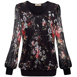 women blouse for casual business work sheer summer spring fall office clothes tunics tops for