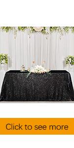 black tablecloth sequin