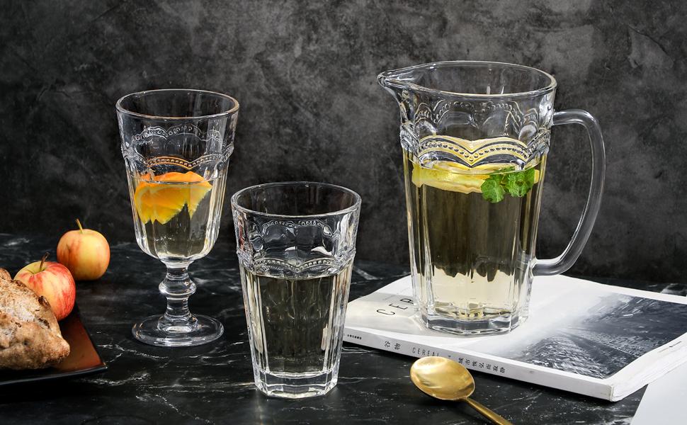 G glassware pear ridge wine goblets