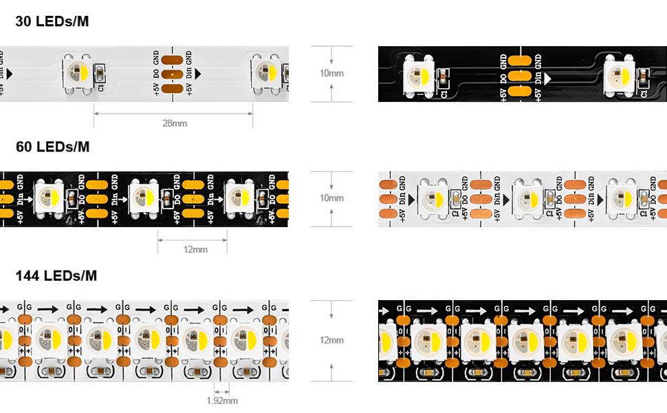 WS2812B 25 x SK6812 LED RGBNW 5V weiß PCB adressierbar 5050 RGBW Neopixel ähnl