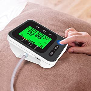 """3  Blood Pressure Monitor for Home Use with Large 3.5"""" LCD Display, Wowgo Digital Upper Arm Automatic Measure Blood Pressure and Heart Rate Pulse with Wide-Range Cuff,Three-Color Backlight Display 204eb08a 70ad 476f 9e52 1c45545e566e"""