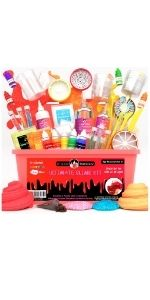 Ultimate unicorn mini galaxy fluffy mystery magic rainbow Slime Set DIY Slimes Kit Boys Girls Kids