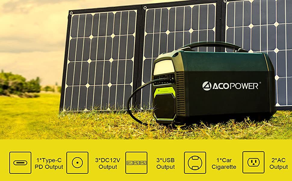 Amazon Com Acopower 500w Generator And 120w Portable Solar Panel Home Improvement