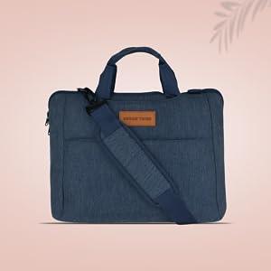 URBAN TRIBE Smart Shell Polyester 40 cms Indigo Messenger Bag (Smart Shell - Indigo)