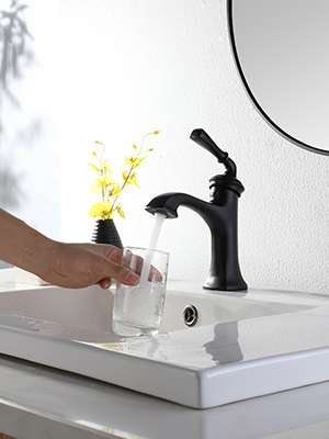 matte black faucet for bathroom