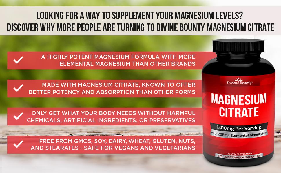 Divine Bounty Magnesium Citrate