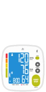 Smart Connected Bluetooth Blood Pressure Monitor