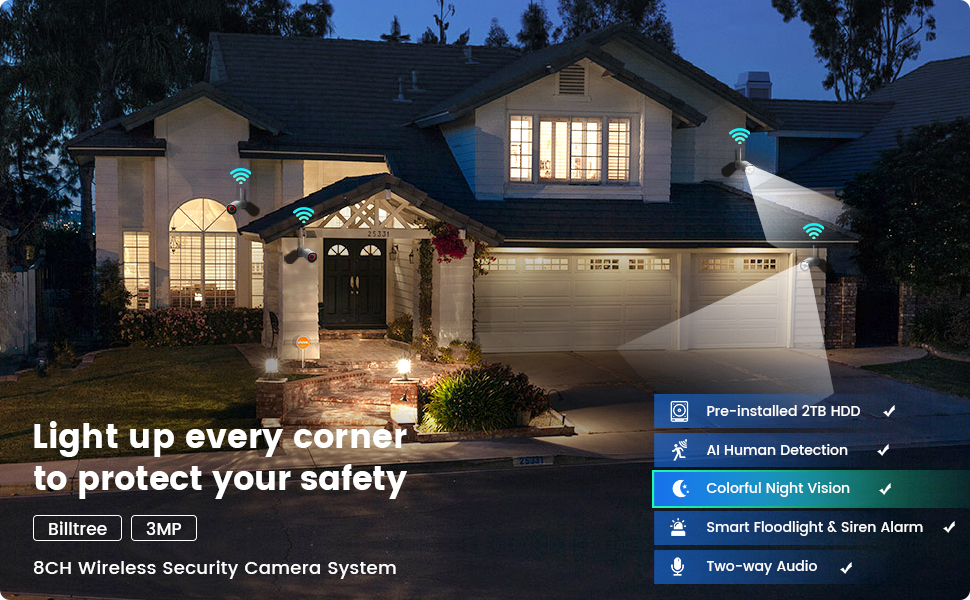 3MP 8CH Wireless security system