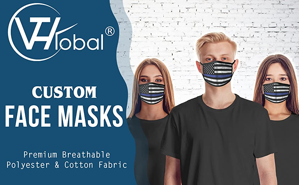 Custom Cotton Fabric Cloth Face Mask VTH Global