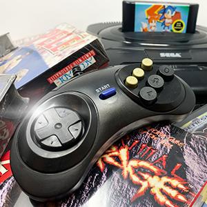 Old Skool Controller for Sega Genesis gaming console retrogaming retro game videogames games arcade