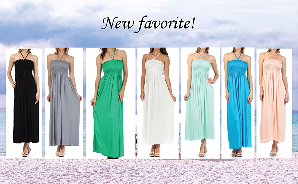 off the shoulder ruffle party dresses maxi beach summer solid strapless boho long dress tube elastic