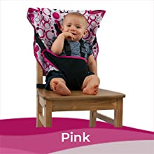 Safer Infant//Toddler - Quick Cozy Cover Easy Seat Portable High Chair Convenient Cloth Travel High Chair Fits in Your Hand Bag So That You Can Have It With You Everywhere For a Happier Pink Easy