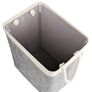 x 13cm Gris H hogar para estantes W x 21cm cl/óset Oficina Guozi Cesta de Almacenamiento Plegable de Lino con Caja de Almacenamiento de Tela Gruesa Rectangular para la Colada 31cm L