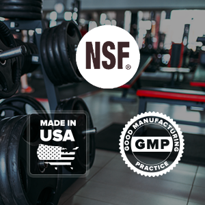 Made in the USA in a cGMP- and NSF-certified Facility