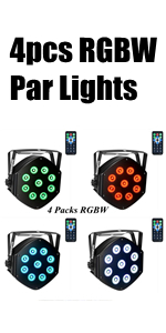 4pcs RGBW Par Lights