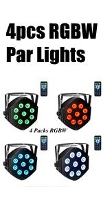 4pcs RGBW Par Lights