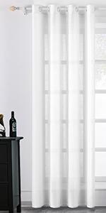 Linen Semi Sheer Window Curtains