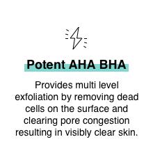 AHA BHA Peeling solution exfoliant soft skin even skin tone texture pore cleansing clear skin