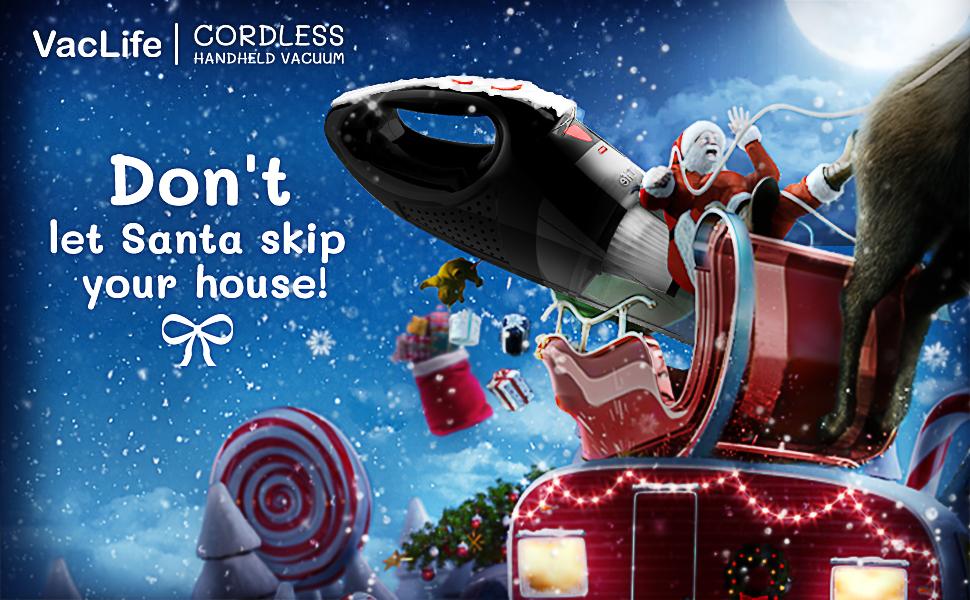 Handheld Vacuum Merry Christmas Santa