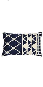 blue lumbar pillow