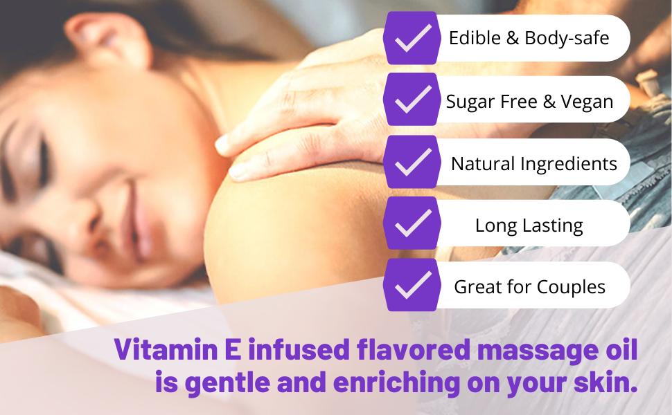 Lick Lavender Flavored  Massage Oil edible body safe vegan sugar free vegetarian natural for couples