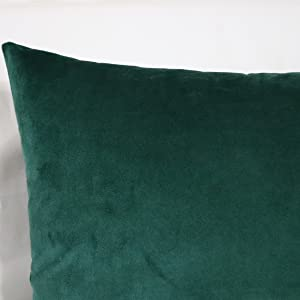 dark green lumbar pillow covers