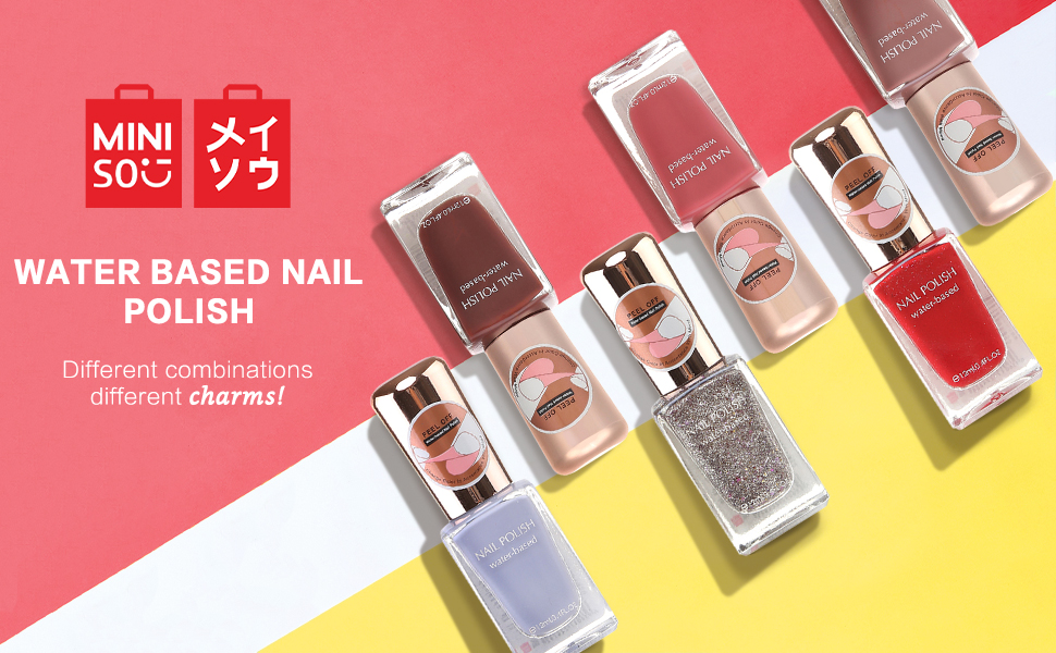 Buy Miniso Water Based Nail Polishes Colour Party Girl Nail Paints Shimmer Red 12ml Online At Low Prices In India Amazon In