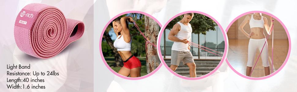 light resistance band for arm shoulder upper body workout warm up exercise