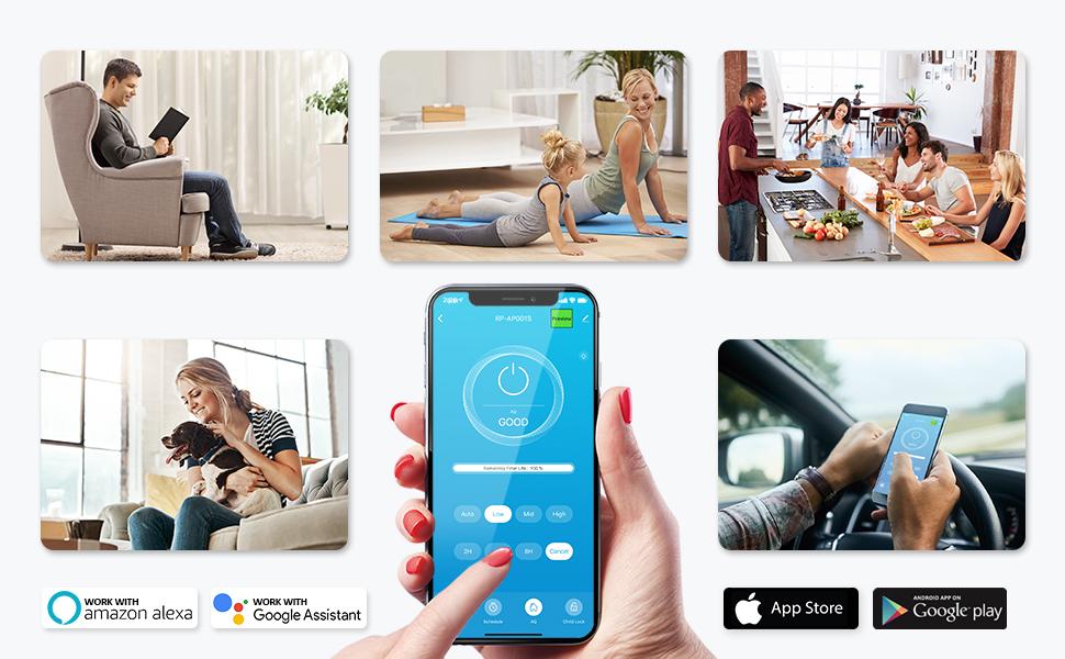 smart wifi air purifier with alexa google