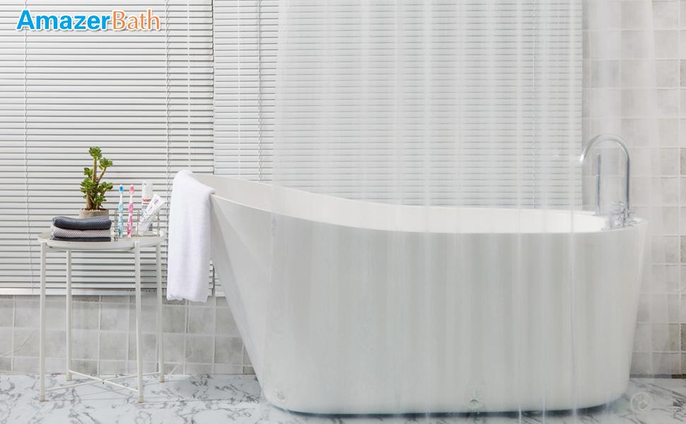 AmazerBath 8G Clear Shower Curtain Liner