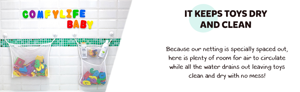 bath toy holder toy storage quick dry net mesh organizer bathtub organizers kids bathroom sets