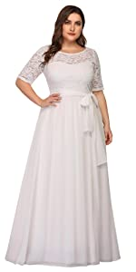 plus size simple wedding dress short sleeve chiffon dress lace formal dress evening dress long
