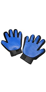 Maxpower Planet Pet Grooming Gloves - Gentle Deshedding Pet Hair Remover Mitt for Dogs, Cats