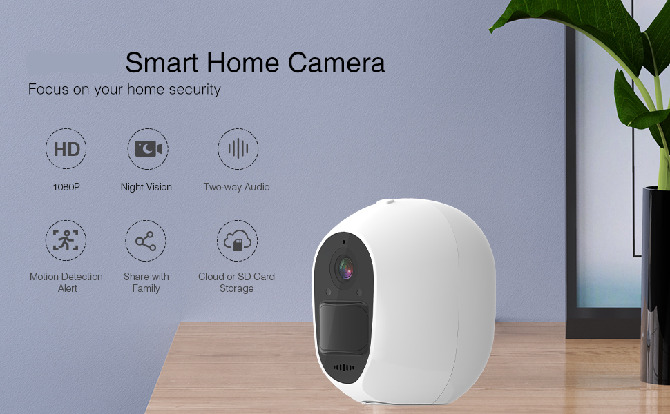 Wireless WiFi Solar Camera, for Home Security Camera, Outdoor Indoor Use, Pet Dog Baby Eldly Camera