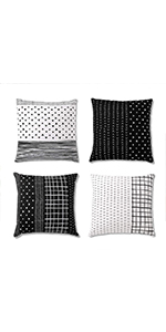accent pillows for couch, couch throw pillow, farmhouse throw pillow, black and white pillows