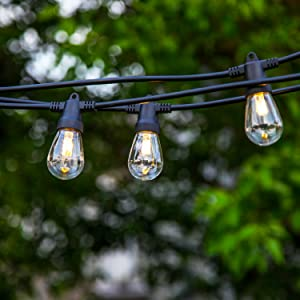 Brightech Ambience Pro Waterproof LED Outdoor USB Powered Camping String Lights 1.5W Vintage Edison