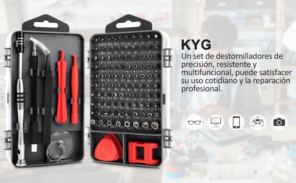 KYG 112 en 1 Destornilladores de Precisión Juego de ...