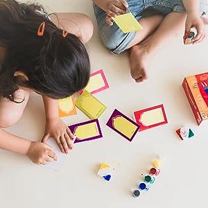 cocomoco kids, cocomoco, block printing kit, wooden stamps