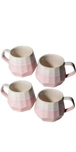 large porcelain cups coffee tea capacity mugs collection with handle set