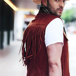 Mens Western Cowboy Vest