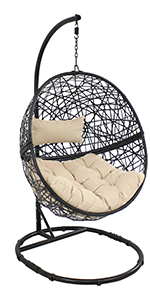 Jackson Hanging Egg Chair with Steel Stand