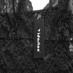 Damen Nachtkleid Sexy Babydoll Dessous Set Erotik Lingerie V-Ausschnitt Kleid Spitze Unterwäsche