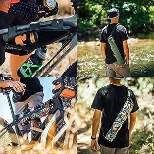 STASHERS Insulated Hike Bike Adventure Handlebar Bag Can Sling Tube Cooler Yeti Coleman Igloo