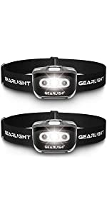 S500 LED Headlamp Flashlight [2 Pack]