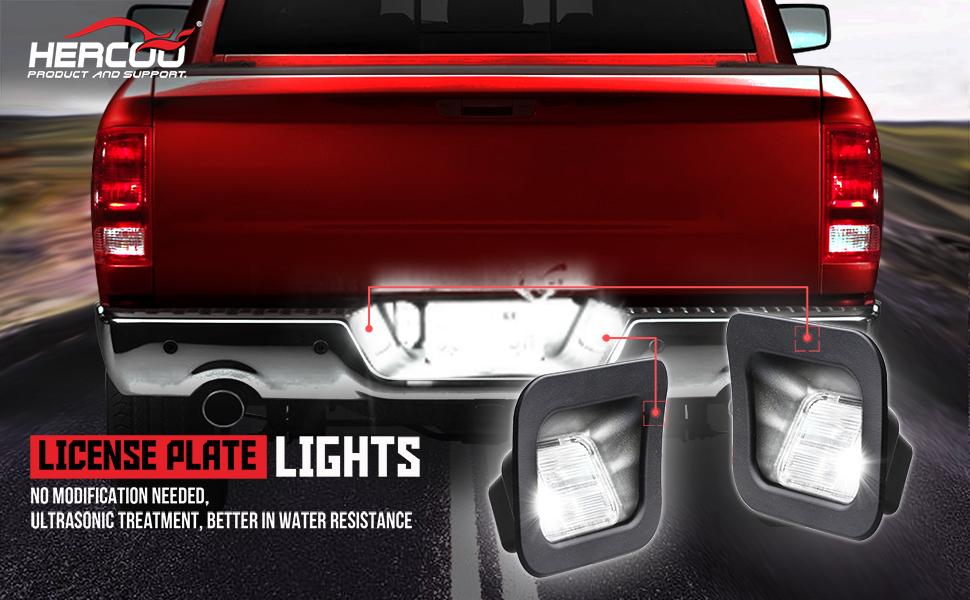 dodge ram led license plate lights